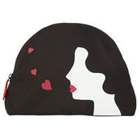 Lulu Guinness Kissing Cameo Large Pouch Black