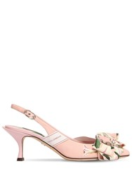 Dolce And Gabbana 60Mm Lory Flower Cady Sling Back Sandals Pink