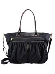 M Z Wallace Bedford Large Abbey Leather Tote Black
