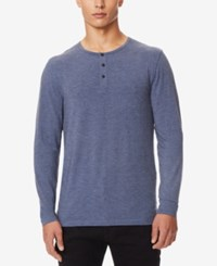 32 Degrees Men's Heat Plus Henley Dark Heather Denim