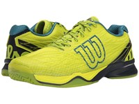 Wilson Kaos Lime Punch Navy Blue Coral Men's Tennis Shoes Yellow