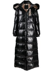 Philipp Plein Shiny Padded Long Coat Black
