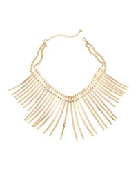 Lydell Nyc Spike Statement Collar Necklace Gold