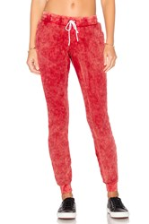Cotton Citizen The Monaco Thermal Jogger Red