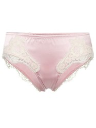 Dolce And Gabbana Lace Trim Briefs Pink And Purple