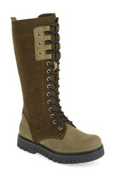 Bos. And Co. Portage Waterproof Lace Up Boot Olive Nubuck Leather