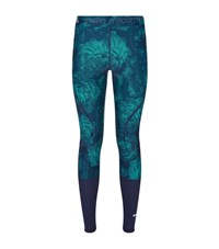 Adidas By Stella Mccartney Geometric Floral Running Tights Female Green