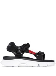Givenchy Braided Strap Chunky Sandals Black