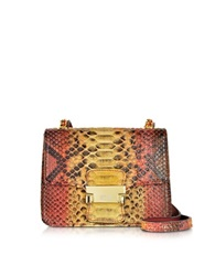 Ghibli Python Mini Crossbody Bag Red Yellow
