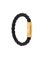 Nialaya Jewelry Braided Bracelet Black