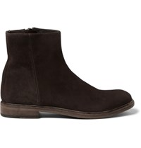Paul Smith Sullivan Distressed Suede Boots Brown