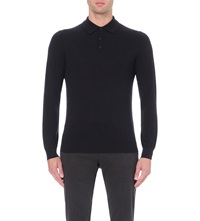 Reiss Mansion Wool Polo Jumper Navy