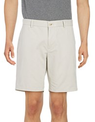 Black Brown Stretch Cotton Chino Shorts Stonewash