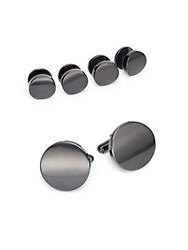 Saks Fifth Avenue Cuff Link And Shirt Stud Set Gunmetal
