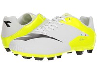 Diadora Mw Tech Rb R Lpu White Black Fluo Yellow Soccer Shoes Multi