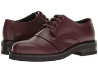 Marni Dyed Leather Oxford Bordeaux Men's Shoes Burgundy