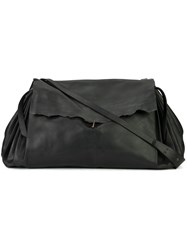 Ma Fold Over Closure Crossbody Bag Black