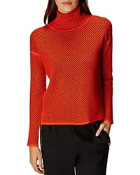 Karen Millen Circle Pattern Sweater Orange
