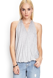 Forever 21 Draped Y Back Halter Top