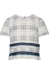 Suno Striped Knitted Top Blue