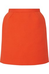 Delpozo Cotton Blend Crepe Mini Skirt Bright Orange