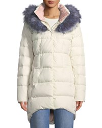 The North Face Hey Mama Parka Puffer Coat W Removable Faux Fur Trim White