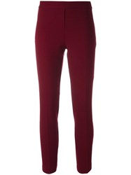 P.A.R.O.S.H. Slim Fit Trousers Red