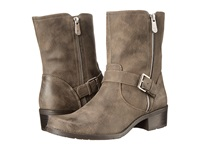 Anne Klein Aklino Taupe Synthetic Women's Zip Boots