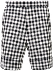 Thom Browne Cuffed Gingham Check Short Blue