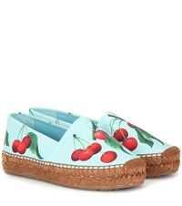 Dolce And Gabbana Exclusive To Mytheresa Cherry Printed Espadrilles Multicoloured