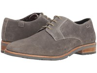Ben Sherman Rugged Leather Oxford Grey Suede Boots Gray
