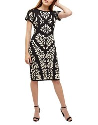 Phase Eight Sanna Tapework Cocktail Dress Oyster Navy