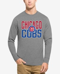 47 Brand '47 Men's Chicago Cubs Power Alley Long Sleeve T Shirt Gray