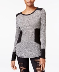 Rachel Roy Colorblocked Combo Sweater Black Combo