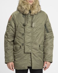 Denim And Supply Ralph Lauren Khaki Nylon Snorkel Parka