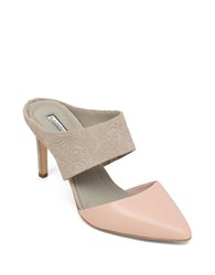 Bcbgeneration Dynasty High Heel Leather Mules Pink
