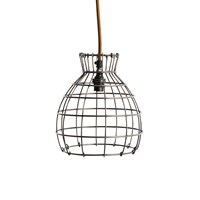 Nkuku Deevika Pendant Light Oxidised Steel Small