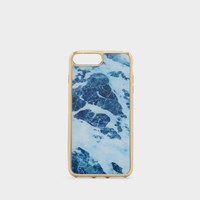 Charles And Keith Marbled Phone Case Blue