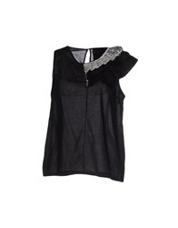 Rose' A Pois Topwear Tops Women Black