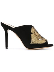 Charlotte Olympia Cut Out Mules Black