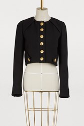 Proenza Schouler Cropped Tailored Jacket 00200 Black