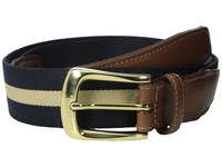 Torino Leather Co. European Surcingle Navy Tan Belts Blue