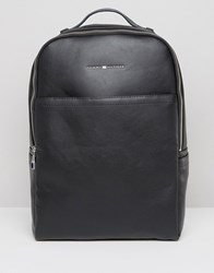 Tommy Hilfiger Backpack In Black Faux Leather Black