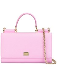 Dolce And Gabbana Von Wallet Crossbody Bag Pink Purple
