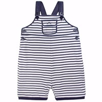 Chateau De Sable French Designer Striped Dungaree Navy Blue