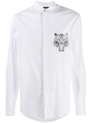 Just Cavalli Embroidered Tiger Shirt White