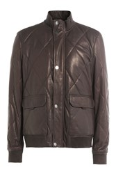 Michael Kors Collection Leather Jacket Brown