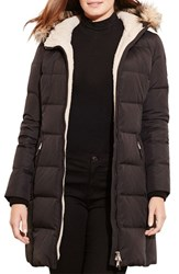 Lauren Ralph Lauren Plus Size Women's Quilted Down And Feather Fill Parka With Faux Fur Trim