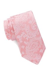Ben Sherman Ground Paisley Skinny Tie Pink
