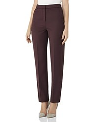 Reiss Nada Tailored Pants Berry